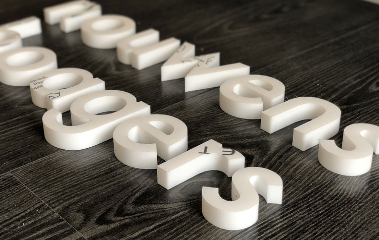 freesletters 19mm, 19mm freesletters, acrylaat 19mm