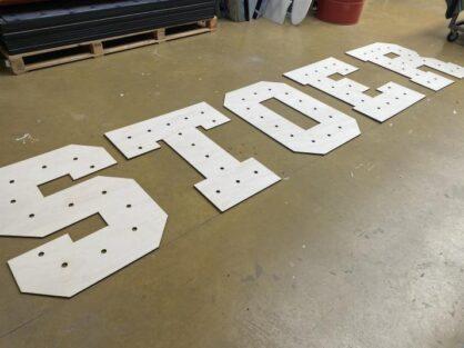 populieren multiplex letters, freesletters van hout