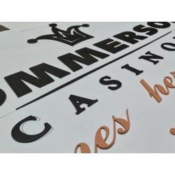 letters poedercoaten